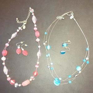 Lia Sophia lot of 2 necklace and earring sets